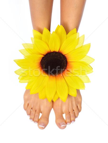 Female feet Stock photo © Kurhan