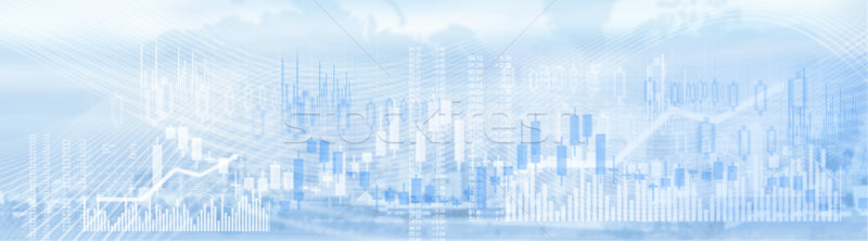 Business stock market background Stock photo © Kurhan
