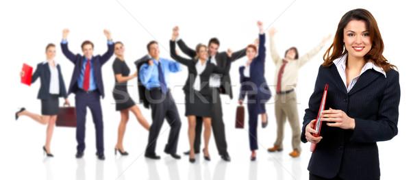 üzletemberek csapat csoport boldog üzleti csapat lány Stock fotó © Kurhan