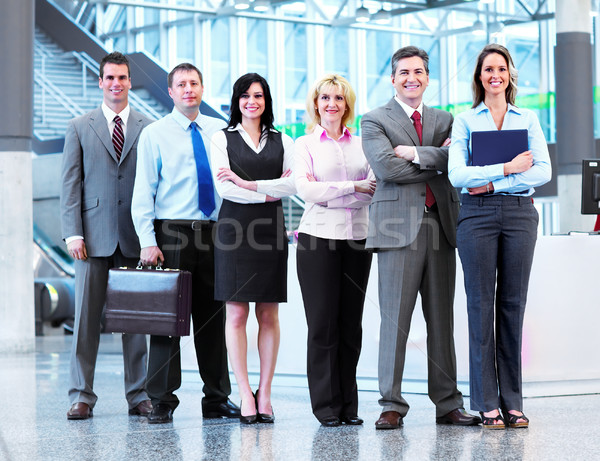ストックフォト: ビジネスの方々 · グループ · 現代 · 都市 · ホール · ビジネス