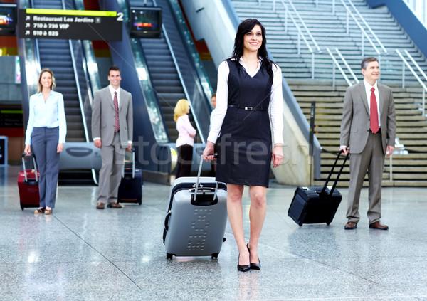 Foto d'archivio: Gruppo · uomini · d'affari · aeroporto · viaggio · business · donna