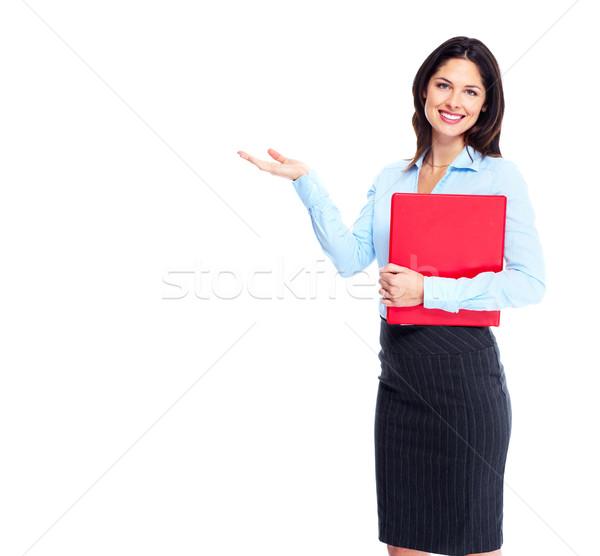 ビジネス女性 小さな コピースペース 孤立した 白 ストックフォト © Kurhan