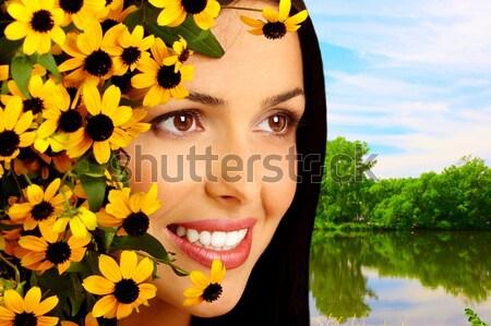 Beautiful woman face Stock photo © Kurhan