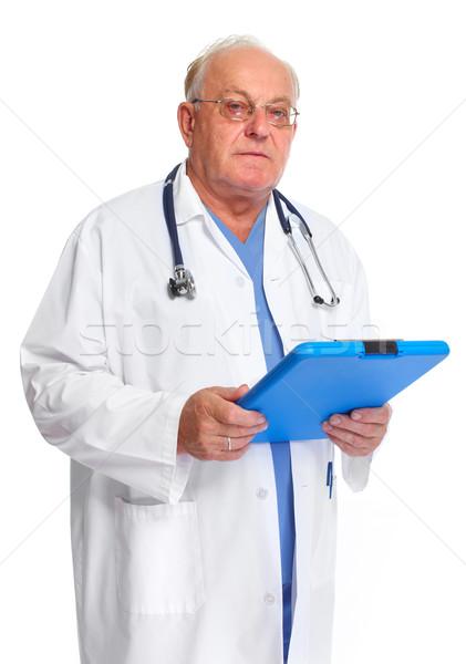 Elderly clinic doctor. Stock photo © Kurhan