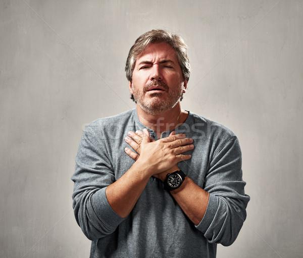 Culpado homem cara escuro dor pessoa Foto stock © Kurhan