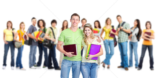 Group of happy students. Stock photo © Kurhan