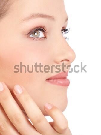 美人 顔 美しい 若い女性 孤立した 白 ストックフォト © Kurhan