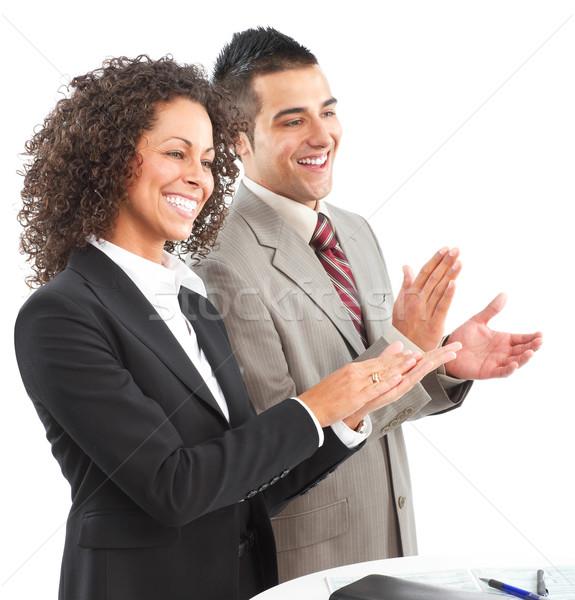 Gens d'affaires jeunes souriant femme d'affaires affaires femme Photo stock © Kurhan