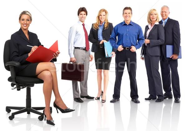 üzletemberek csapat csoport üzleti csapat izolált fehér Stock fotó © Kurhan
