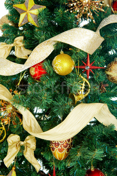 Arbre de noël décoration arbre fête fond wallpaper Photo stock © Kurhan