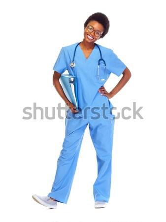 African doctor woman. Stock photo © Kurhan