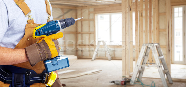 Photo stock: Constructeur · bricoleur · construction · outils · maison