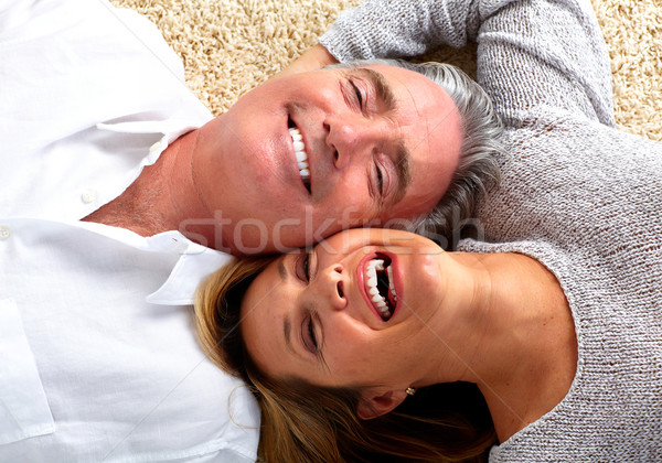 Happy laughing elderly couple. Stock photo © Kurhan