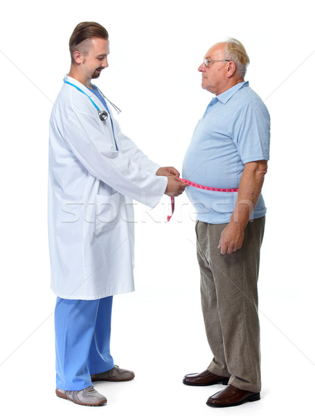 Lekarza otyły człowiek ciało tłuszczu Zdjęcia stock © Kurhan