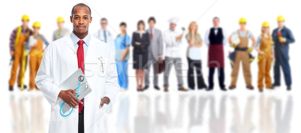 African-american doctor and people group. Stock photo © Kurhan