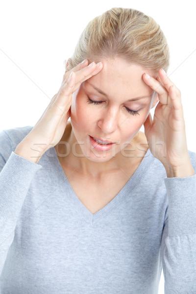 Sick woman Stock photo © Kurhan
