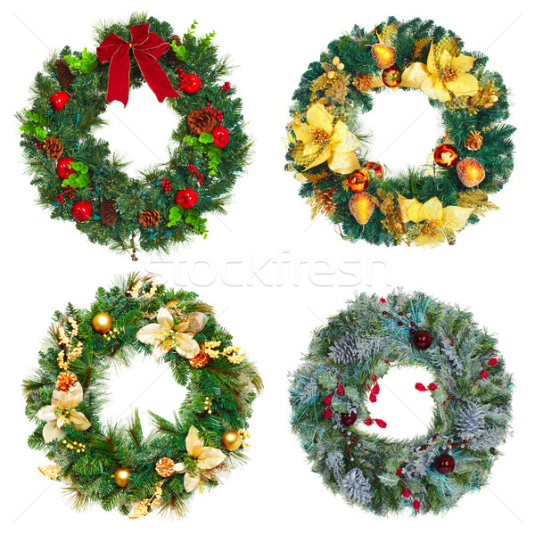 Christmas wreath set. Stock photo © Kurhan