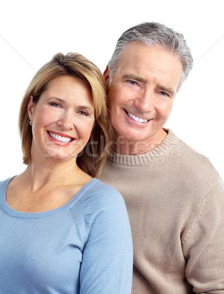 Stock foto: Glücklich · ältere · Paar · Liebe · isoliert