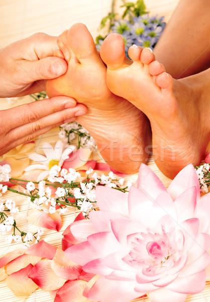 Foot massage. Stock photo © Kurhan