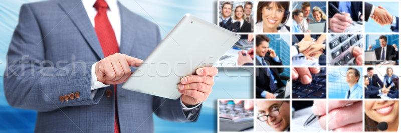бизнесмен ipad компьютер бизнеса Техно женщину Сток-фото © Kurhan