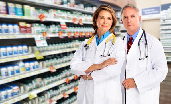 Doctor team pharmacist woman. Stock photo © Kurhan