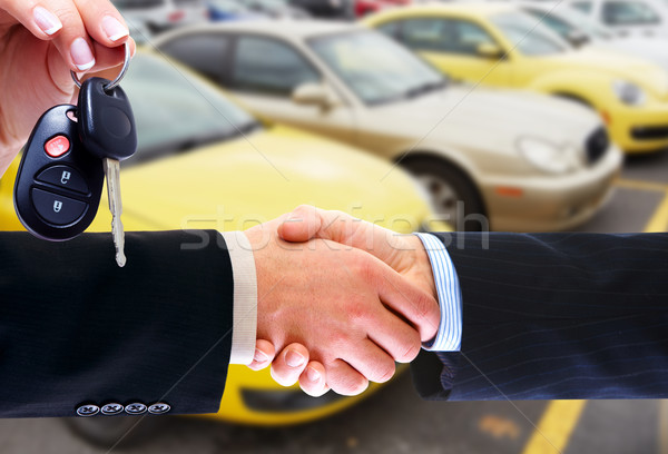 Car Dealership Hand Shake
