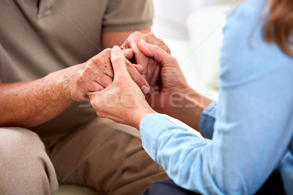 Сток-фото: старший · человека · рук · старые · социальной
