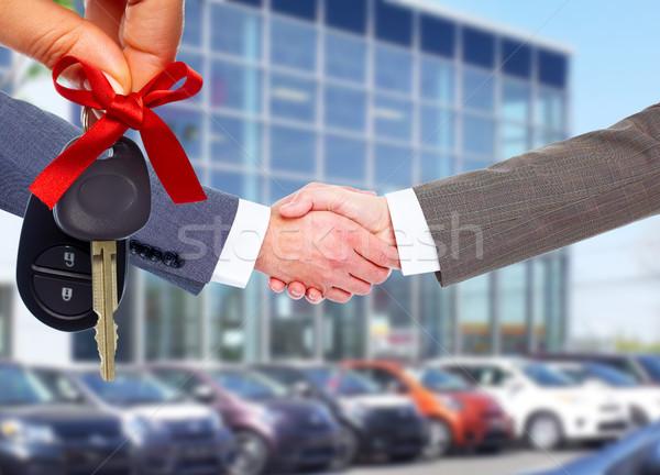 Photo stock: Voiture · vendeur · client · handshake · Auto