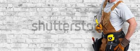 Construction worker hands Stock photo © Kurhan