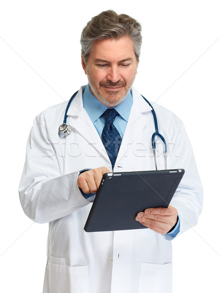 Stock photo: Doctor with tablet computer.