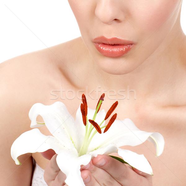 Woman with flower Stock photo © Kurhan