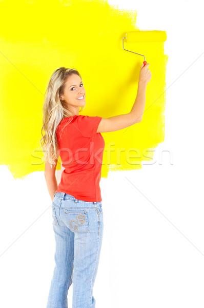 woman painting Stock photo © Kurhan