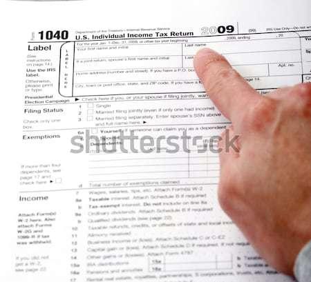 Stok fotoğraf: Form · 1040 · gelir · vergi · dönmek · standart