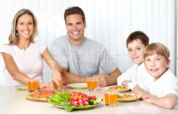 Family pizza Stock photo © Kurhan