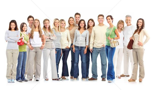 Pessoas felizes isolado branco mulher família mulheres Foto stock © Kurhan