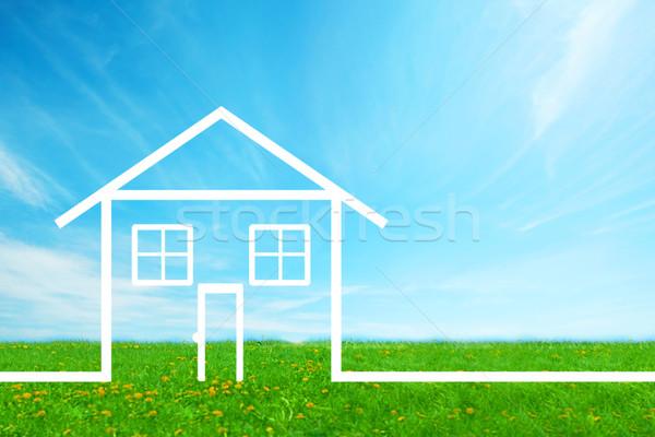 House Real estate background. Stock photo © Kurhan