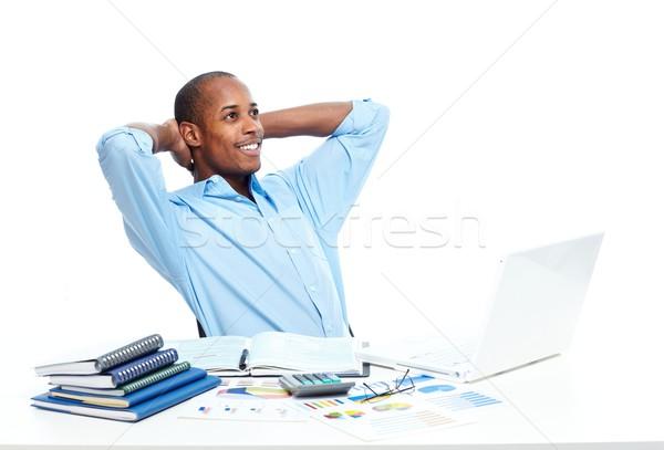 African-American businessman in office. Stock photo © Kurhan
