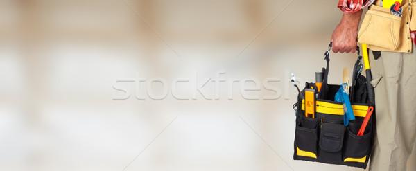 Mano manitas herramienta bolsa construcción trabajo Foto stock © Kurhan