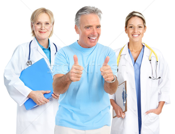 doctor and healthy elderly man  Stock photo © Kurhan