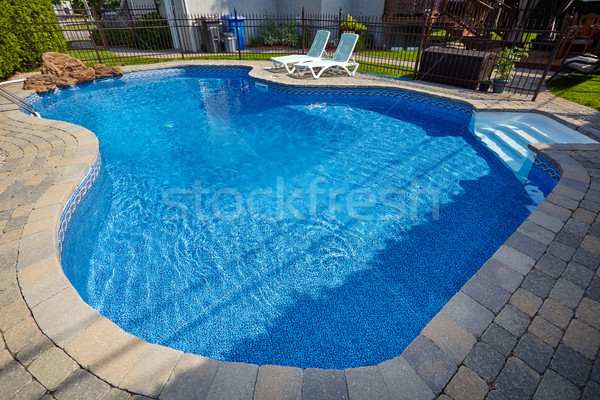 Yüzme havuzu mavi su yaz havuz dinlenmek Stok fotoğraf © Kurhan