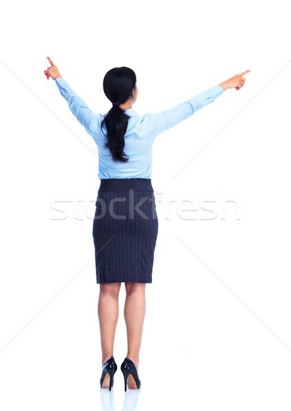 Zdjęcia stock: Młodych · business · woman · hiszpańskie · odizolowany · biały · kobieta