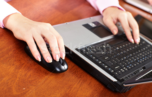 El bilgisayar fare iş yaşam tarzı kadın Internet Stok fotoğraf © Kurhan