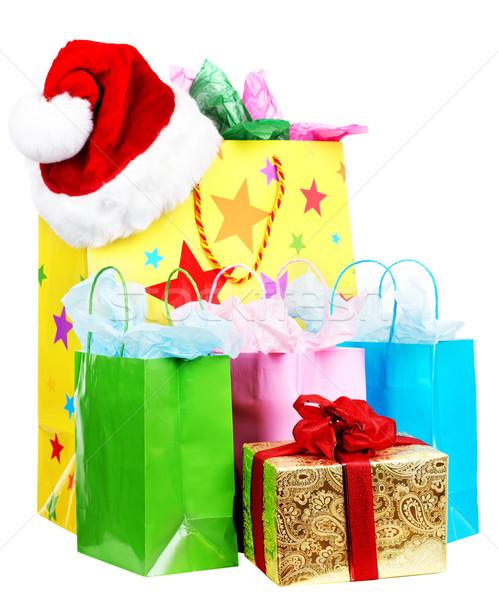 Mooie boodschappentas geïsoleerd witte achtergrond winkelen Stockfoto © Kurhan