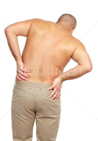 Man with a back pain. Stock photo © Kurhan