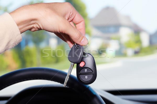 Clés de voiture Auto voiture clé bras Photo stock © Kurhan