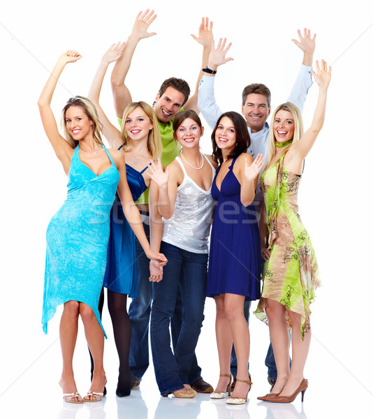 Group of dancing people. Stock photo © Kurhan