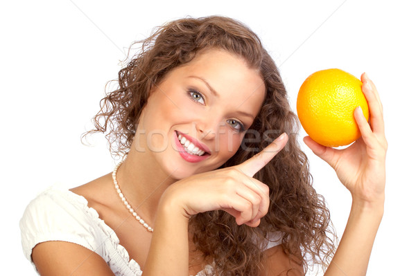 woman with orange Stock photo © Kurhan