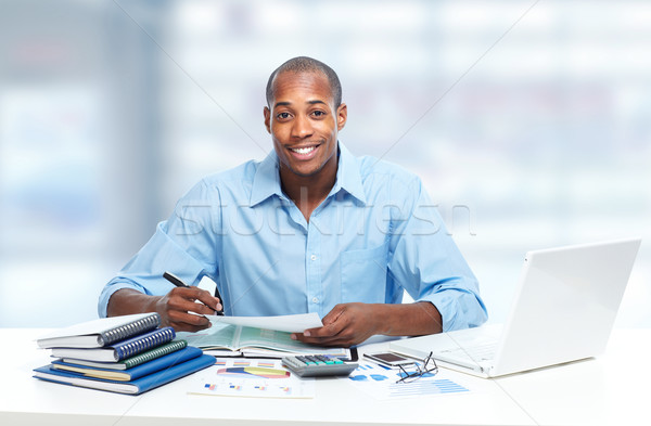 African-American black businessman in office. Stock photo © Kurhan