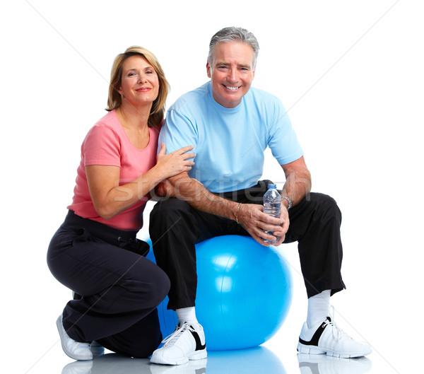 Zdrowych fitness starszych para sportu wykonywania Zdjęcia stock © Kurhan