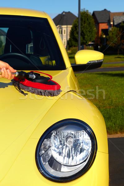 Auto wax doek hand wassen ontharing Stockfoto © Kurhan